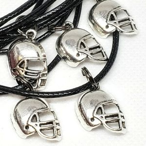 FOOTBALL HELMET Necklaces Party Favors Set of 10